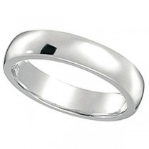 Dome Comfort Fit Wedding Ring Band Platinum (4mm) Size 6