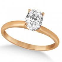 Four-Prong 14k Rose Gold Solitaire Engagement Ring Setting (0.40ct)