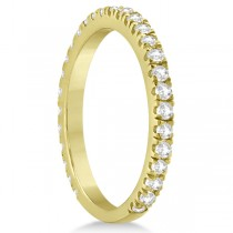 Round Diamond Eternity Wedding Ring 18K Yellow Gold Diamond Band (0.58ct) Size 4.5