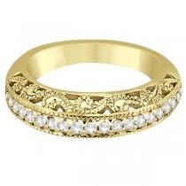 Vintage Filigree Diamond Wedding Ring 14K Yellow Gold (0.32ct)