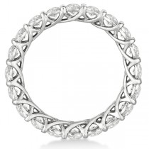 Luxury Diamond Eternity Anniversary Ring Band 14k White Gold (2.50ct) Size 4.75