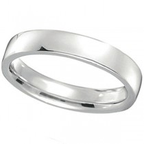 Palladium Wedding Ring Low Dome Comfort Fit (4 mm) Size 10.5