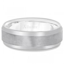 Comfort-Fit Carved Wedding Band in Platinum (7mm)|escape