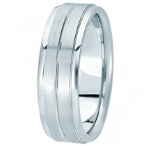 Carved Wedding Band in Palladium For Men (7mm) Size 11.5