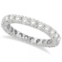 Diamond Eternity Ring Wedding Band 18k White Gold (2.50ct) size 10