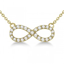 Twisted Infinity Diamond Pendant Necklace 14k Yellow Gold (0.50ct) 16 Inches