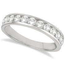 Channel-Set Diamond Anniversary Ring Band Palladium (0.75ct) Size 5.5