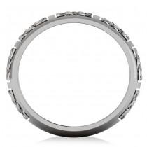 Celtic Wedding Ring Band 14k White Gold|escape
