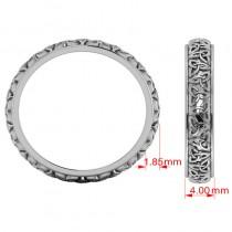 Celtic Knot Infinity Wedding Band Ring Platinum size 6