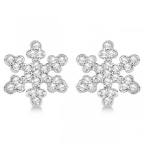 Diamond Snowflake Earrings 14k White Gold (0.24ct)