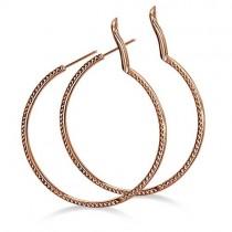 Hidalgo Micro Pave Pink Diamond Hoop Earrings 18k Rose Gold (0.63ct)