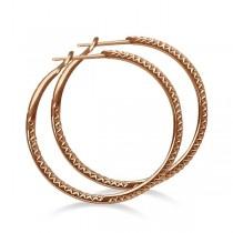 Hidalgo Micro Pave Diamond Hoop Earrings 18k Rose Gold (0.67ct)
