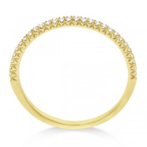 Micro Pave Diamond Ring Guard 18k Yellow Gold by Hidalgo (0.11 ct)